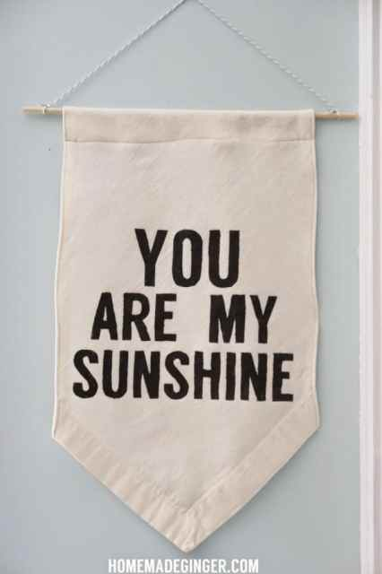 Learn how to make a hanging banner with a quote.  The best part is that you don't need any fancy equipment or printers to make your own custom banner!