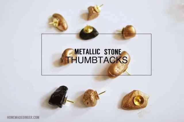 Metallic stone thumbtacks