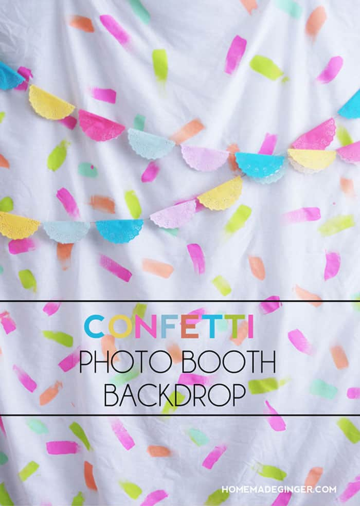 Create a confetti back drop for a photo booth. Great for lots of different occasions!