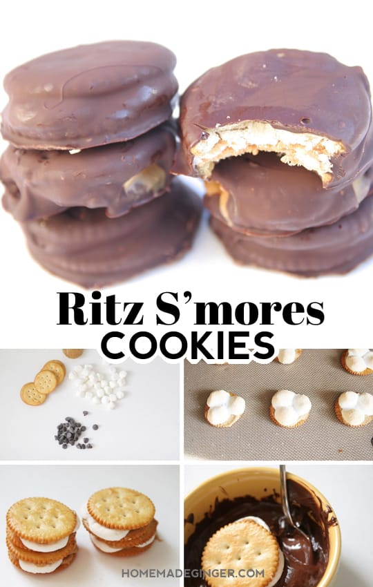 This is BEST and easiest S'mores inspired recipe around! These Ritz s'mores cookie recipe is beyond yummy and couldn't be easier to make.