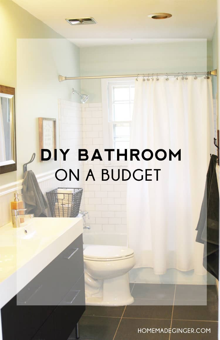 You can create a DIY bathroom renovation on a budget! You won't believe the before and after photos from this blogger's bathroom renovation project and the shocking amount of money that was saved!