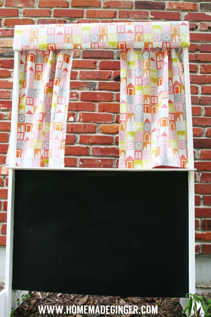 It only takes about an hour to make a DIY puppet theater. All you need is some plywood and some basic tools to make your own puppet theater. This project is simple and easy and makes a great gift idea for kids.