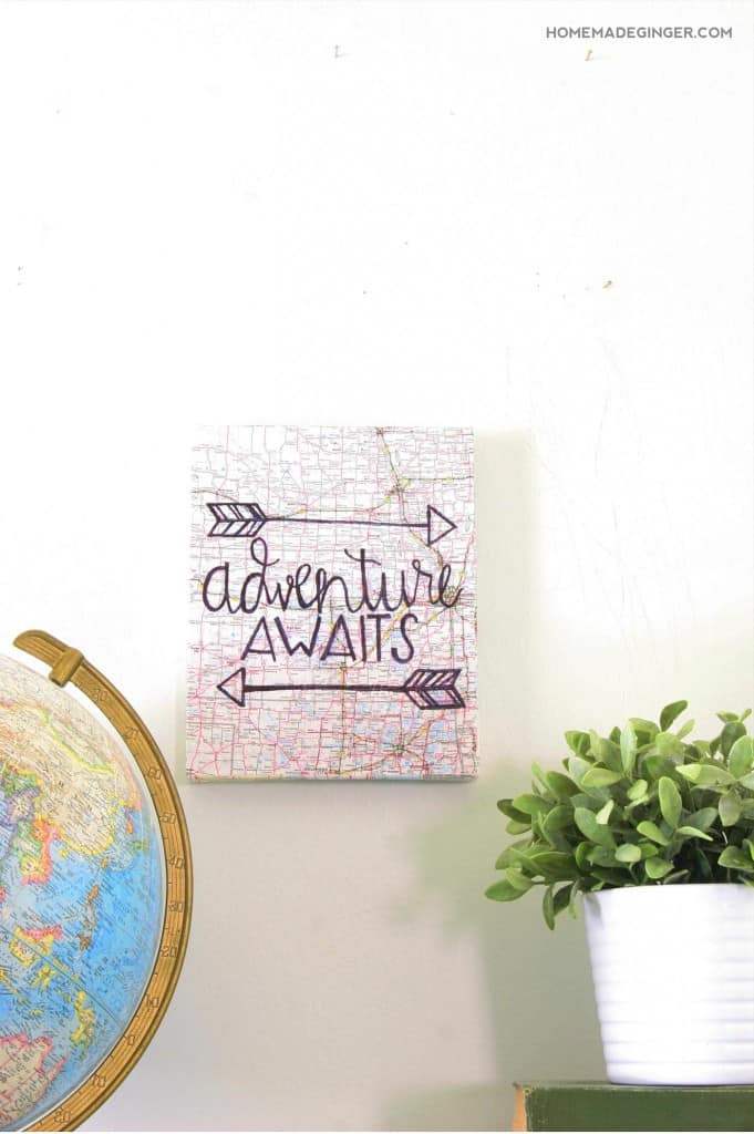 """Make a hand lettered canvas by learning this easy """"cheat"""" to acheive the perfect hand lettered design! Great for nursery wall decor!"""
