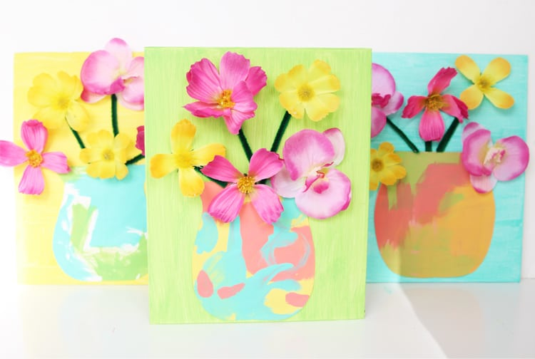 This fake flower craft idea is a PERFECT Mother's Day craft! Grab some materials from the dollar store and make this spring craft today!