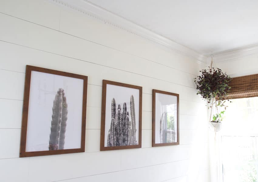 Learn how to make diy affordable large scale art for your home! This tutorial is easy to follow an only takes an afternoon to do. The results are so classy!