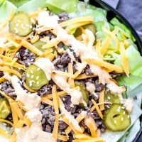 Low Carb Big Mac Bowl