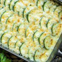 Cheesy Baked Zucchini Casserole {Keto}