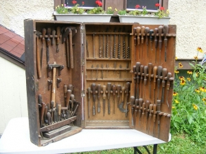 Homemade Wooden Tool Cabinet