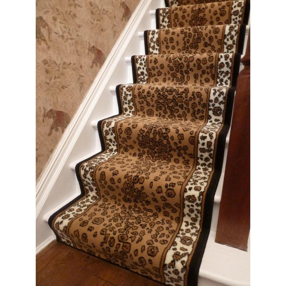 Animal Print Carpet Homemajestic | Printed Carpet For Stairs | High Traffic | Gray | Karastan Patterned | Georgian | Middle Open Concept