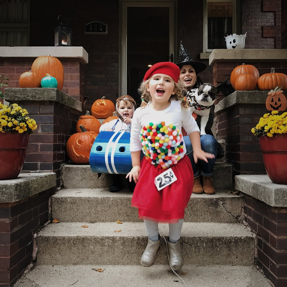 Easy DIY Halloween Costume Idea: Vintage Gumball Machine