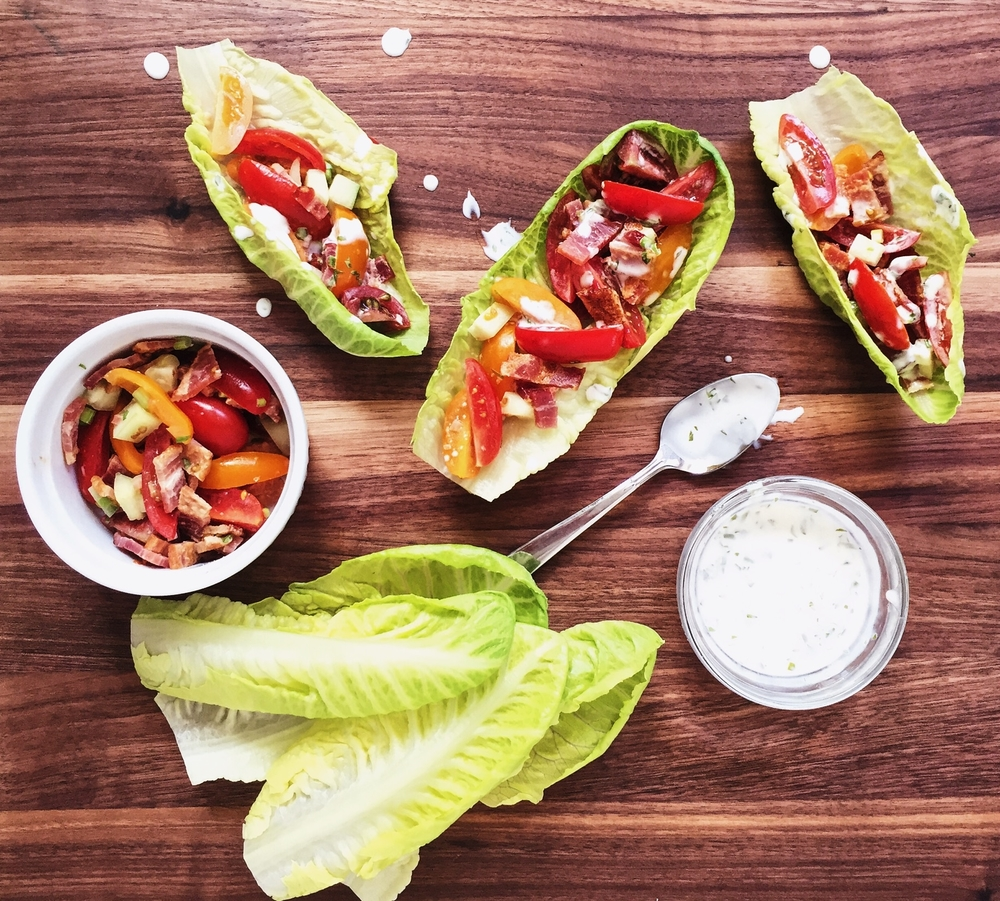 Fast, Easy, Fresh: BLT Lettuce Wraps Recipe
