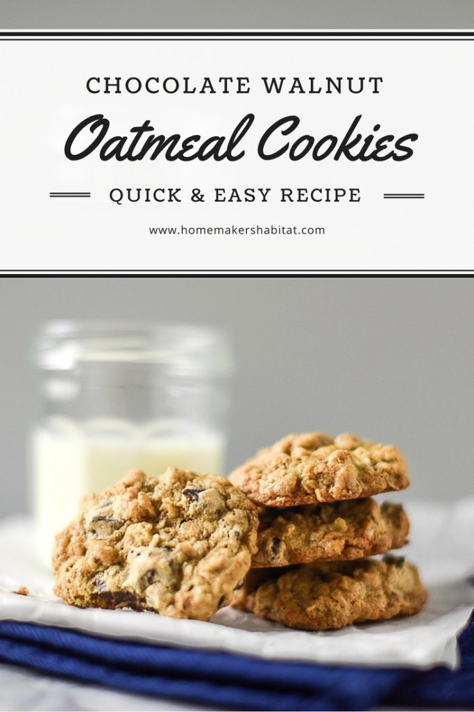 Chocolate Walnut Oatmeal Cookies Recipe