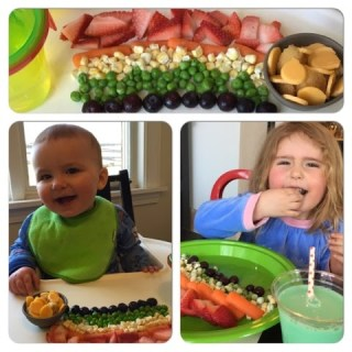 Happy St Patrick's Day – Kid's Fruit & Veggie Rainbows