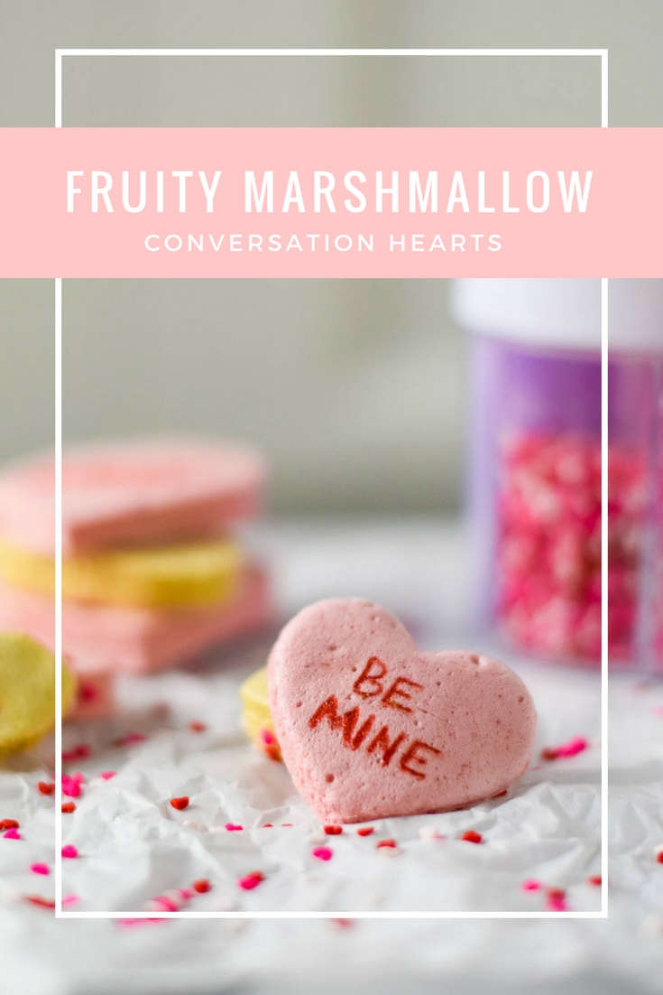 Fruity Marshmallow Conversation Hearts