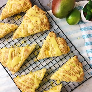 Mango Scones with Lime Zest