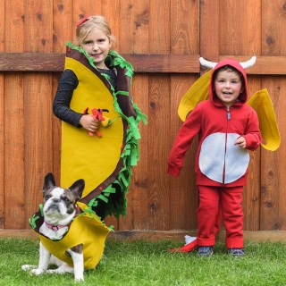 Easy DIY Dragons Love Tacos Costumes for Kids