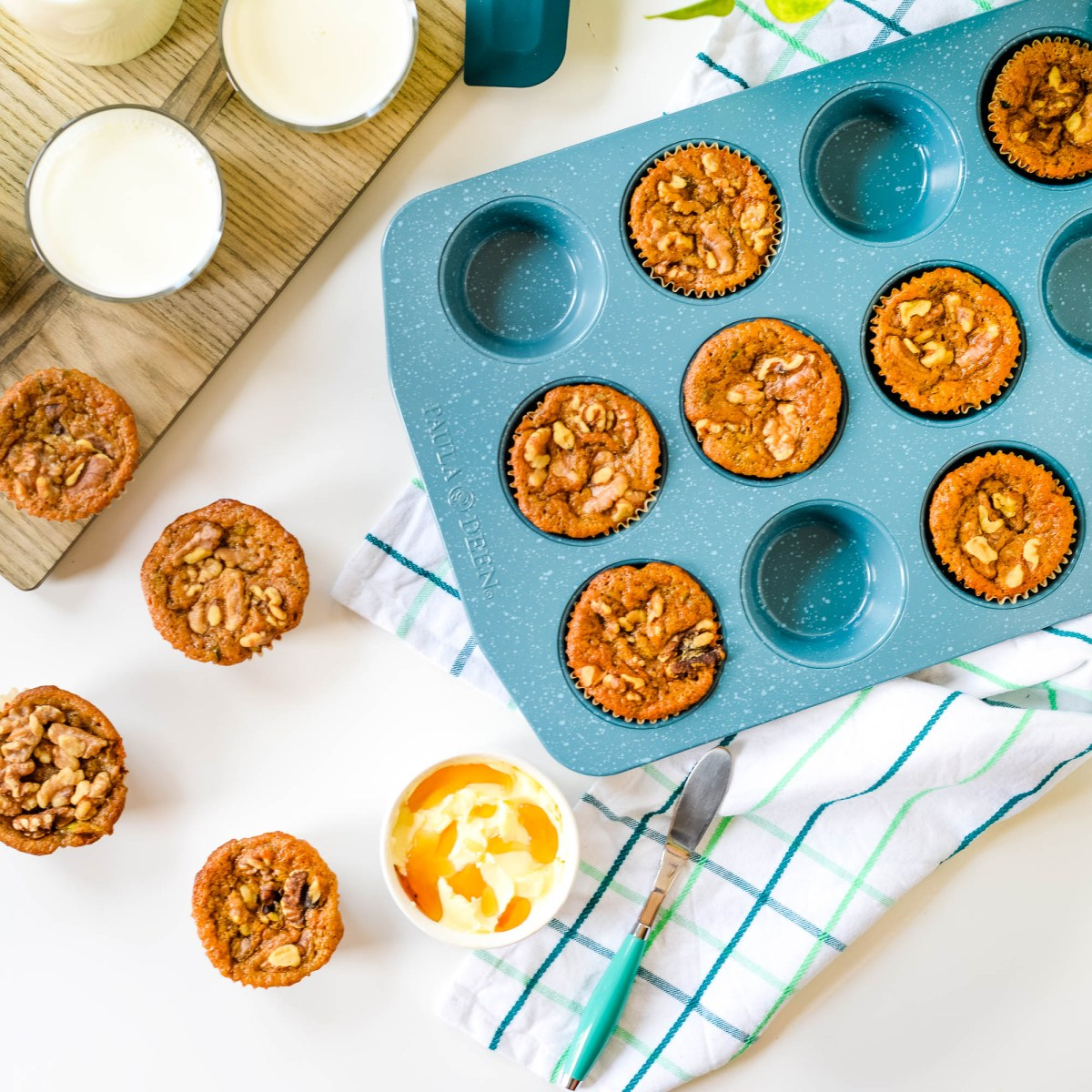 Zucchini Carrot Banana Breakfast Muffins