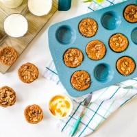 Zucchini Carrot Banana Breakfast Muffins