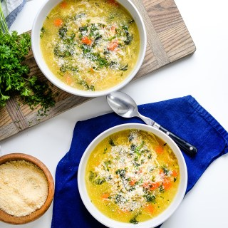 Chicken Soup with Farro and Kale