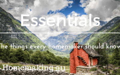 Homemaking Essentials- The Things Every Homemaker Should Know