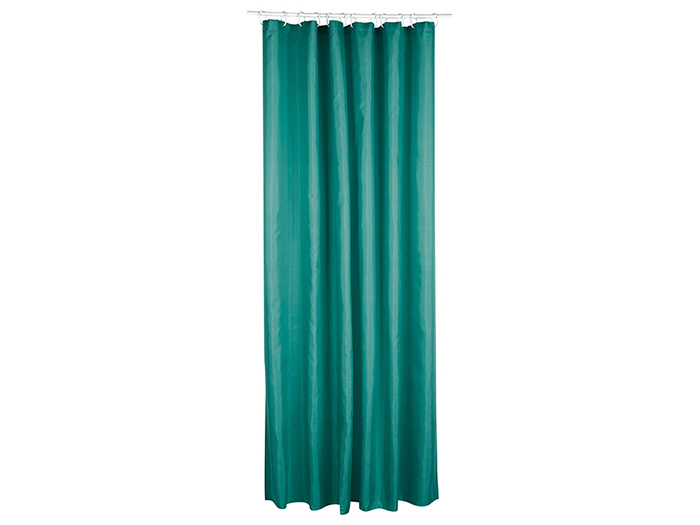 polyester shower curtain in deep emerald green 180 x 200 cm