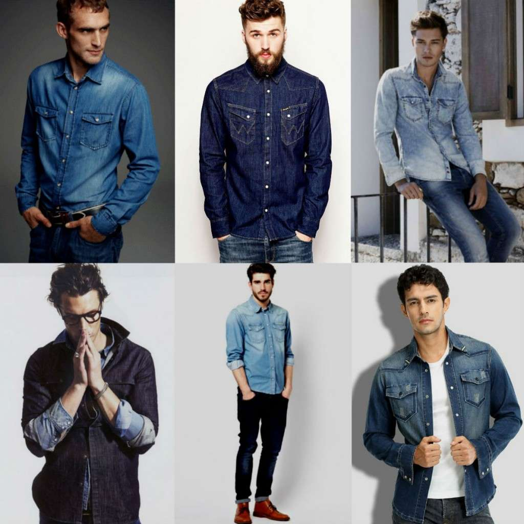 Homem No Espelho - Camisa jeans masculina - como usar e combinar