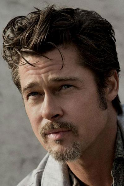Homem No Espelho - Estilos de barba e cabelo masculinos 2015 - Brad Pitt