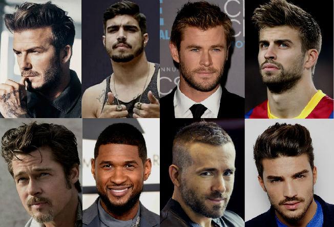Barbas E Cabelos Campeoes Do Visual Masculino Da Moda Homem No