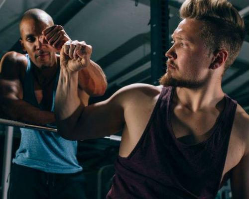 Homem No Espelho - Treino academia músculos 1