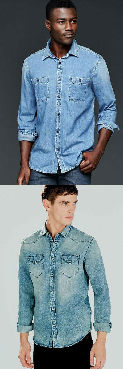 Homem No Espelho - Tipos de camisas masculinas - camisa jeans