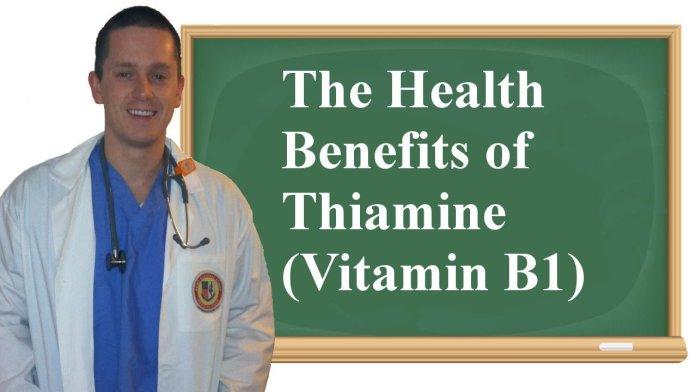 Health benefits of thiamine
