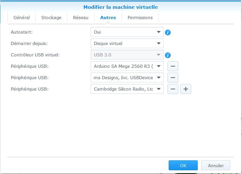Mappage USB dans la VM
