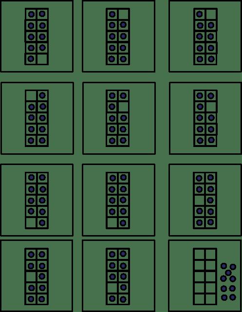 Ten Frame Cards For Number Value Match