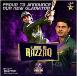 Quetta Gladiators added Abdul Razzaq