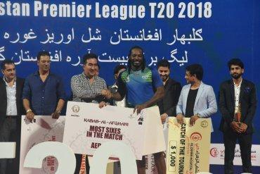 Gayle storm helped Balkh Legends to win Afghanistan Premier League