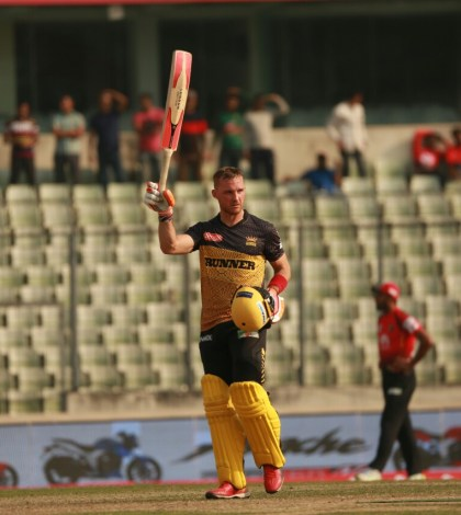 Laurie Evans's maiden Ton helped Kings to maintain their winning streak
