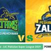 Preview: Pakistan Super League 2019, Match 14, Multan Sultans vs Peshawar Zalmi