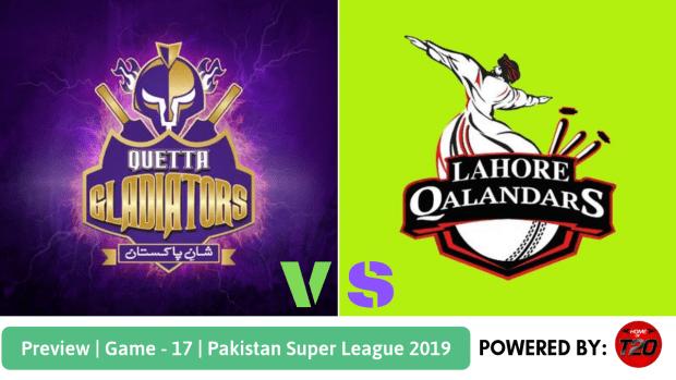 Preview: Pakistan Super League 2019, Match 17, Lahore Qalandars vs Quetta Gladiators