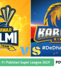 Pakistan Super League 2019 Match 9 Peshawar Zalmi vs Karachi Kings