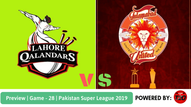 Pakistan Super League 2019 Match 28 Lahore Qalandars vs Islamabad United