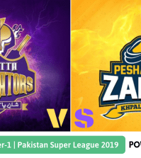 Pakistan Super League 2019 Qualifier 1 Peshawar Zalmi vs Quetta Gladiators