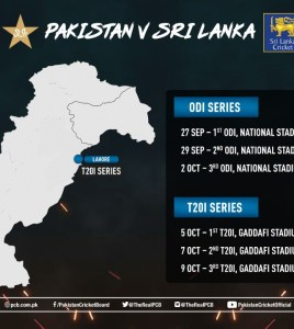 Pakistan to host 3 ODIs and 3 T20Is against Sri Lanka at home