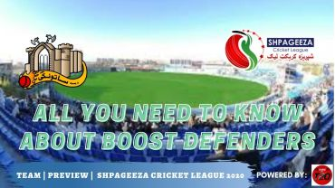 Shpageeza Cricket League All you need to know about Boost Defenders