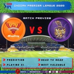 Preview: IPL 2020 Match 8 Kolkata Knight Riders vs Sunrisers Hyderabad