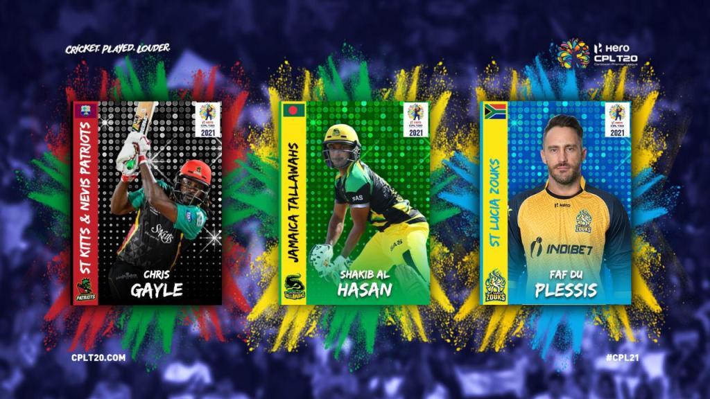 Gayle, Shakib and Du Plessis return to Hero CPL