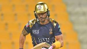 Quetta Gladiators will miss the services of Faf du Plessis in today's match due to a concussion