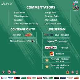 List of commentators for National T20 Cup 2021