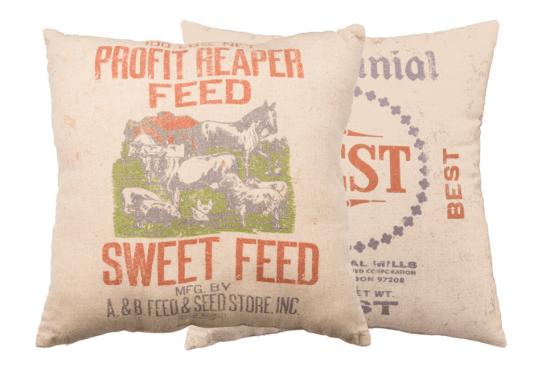 Sweet Feed throw pillow