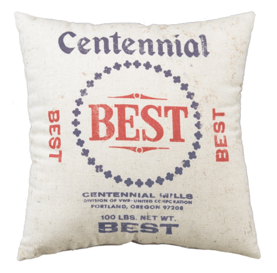 Centennial Best throw pillow