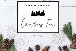 """16""""x20"""" Farm Fresh Christmas Trees Print - Get one now for this years' holiday decor!"""